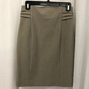 Express Women's Taupe Pencil Skirt Fully Lined